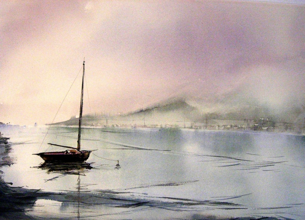 La penisola  vista da Varenna