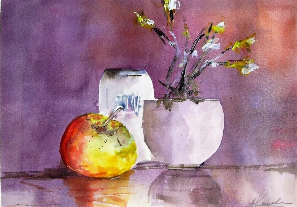 Serie natura moribonda Lattina di bille e mela